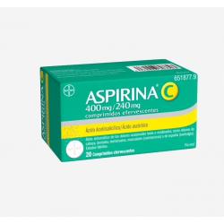 BAYER Aspirina C 400/240mg 20 Comprimidos Efervescentes
