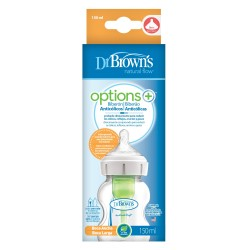 Dr. BROWN'S Biberón OPTIONS Plus 150 ML Boca Ancha Natural Flow