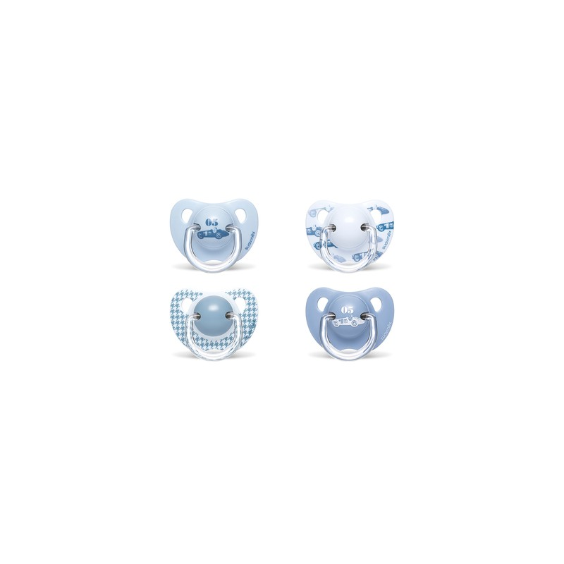 SUAVINEX 2xChupete +6M Azul Tetina de Latex Anatomica