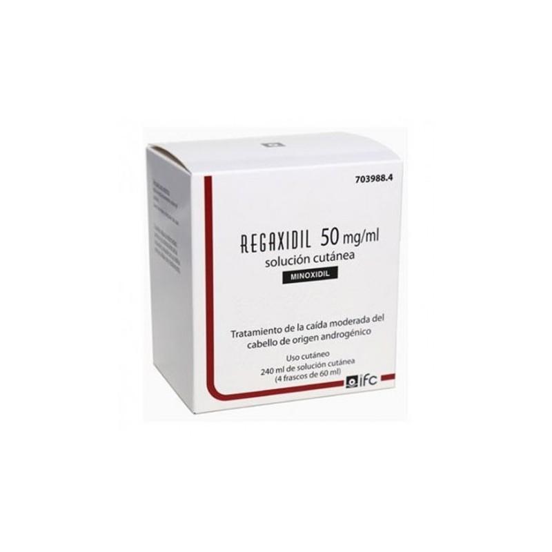 REGAXIDIL Solucion Cutanea Minoxidil 50mg/ml 4x60ml (240ml)