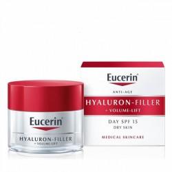 EUCERIN Hyaluron-Filler Volume-Lift Crema Dia spf15 piel Seca 50ml