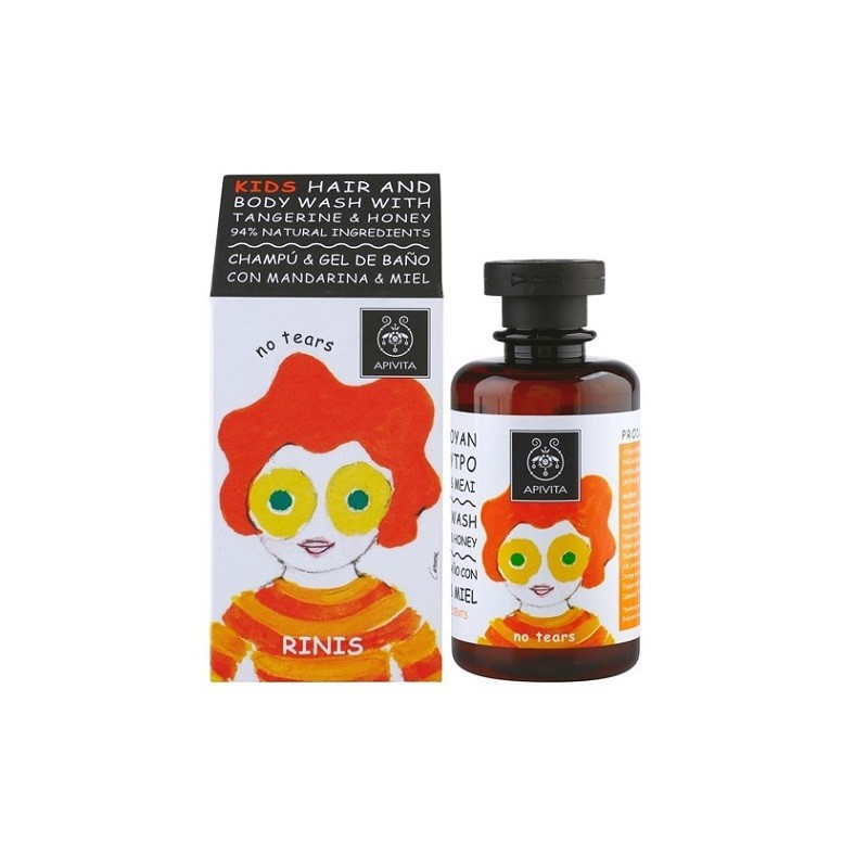 Apivita Kids Champu y Gel con Mandarina y Miel 250ml