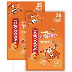 REDOXITOS Vitaminas y Defensas Duplo 2x25 Perlas Blandas sabor Naranja